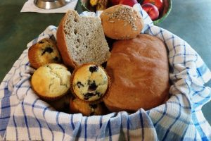 Freshly Baked Breads at Changing Seasons Bed and Breakfast in Nanton Alberta