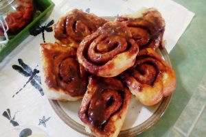 Cinnamon Rolls at Changing Seasons Bed and Breakfast in Nanton Alberta